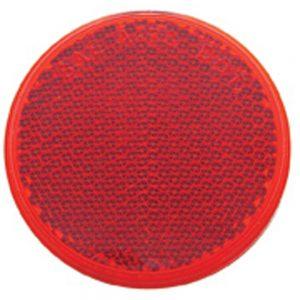 "(BULK) 2 3/8"" ROUND QUICK MOUNT REFLECTOR - RED"