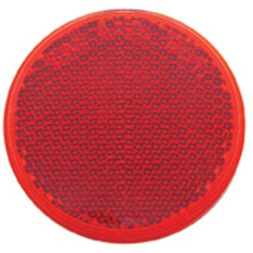 "(BULK) 2 3/8"" ROUND QUICK MOUNT REFLECTOR - RED"