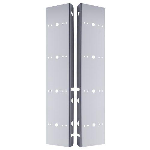 (2/BULK) S.S. PETERBILT 8 LED CUTOUT AIR CLEANER LIGHT BRACKET W/ ORIGINAL GLASS LENS - DARK AMBER