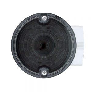 (BOX) 21 AMBER LED 3 1/4 ROUND HARLEY SIGNAL LIGHT WITH HOUSING - SMOKE LENS - 1156 PLUG