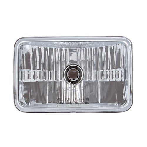 (BOX) 165mm CRYSTAL RECTANGULAR HEADLIGHT (HIGH & LOW BEAM) - 9007