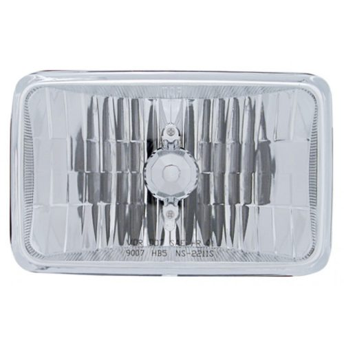 (BOX) 165mm CRYSTAL RECTANGULAR HEADLIGHT (HIGH BEAM ONLY) - 9007