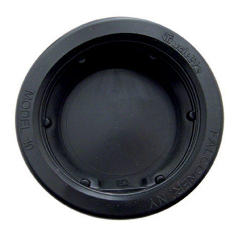 """(BULK) BLACK RUBBER 2 1/2"""" RECESS MOUNT GROMMET - CLOSE BACK"""