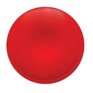 "(BULK) 4"" DEEP DISH LIGHT LENS - RED"