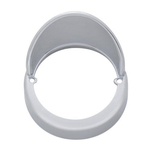 (CARD) CHROME PLASTIC LED CAB LIGHT BEZEL W/ VISOR
