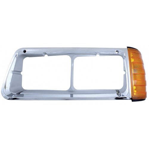 (BOX) FREIGHTLINER FLD HEADLIGHT BEZEL WITH TURN SIGNAL - DRIVER SIDE