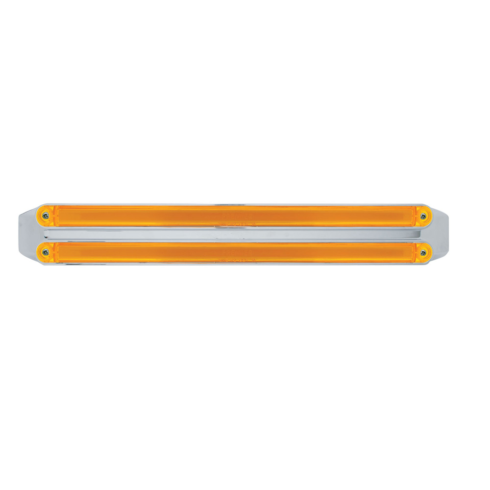 "(CARD) 48 LED DUAL 12"" LIGHT BAR -  GLO LIGHT - AMBER LED/AMBER LENS"
