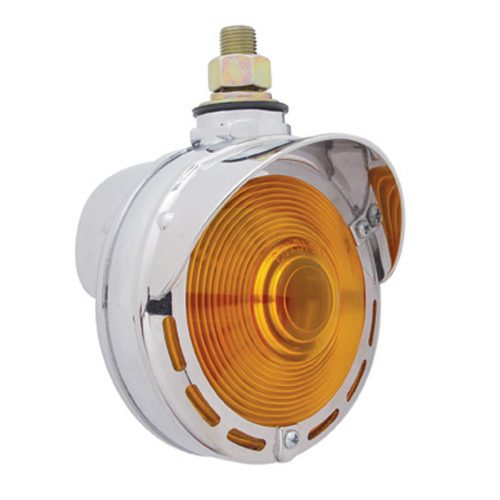 (CARD) INCANDESCENT CHROME DOUBLE FACE TURN SIGNAL LIGHT W/ UP-SIDE DOWN VISOR
