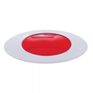 """(CARD) """"PHANTOM I"""" CHROME PLASTIC BEZEL & LENS KIT - RED"""