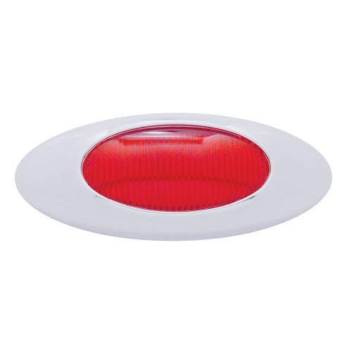 "(CARD) ""PHANTOM I"" CHROME PLASTIC BEZEL & LENS KIT - RED"