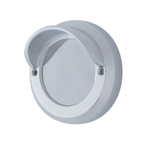 "(CARD) CHROME PLASTIC 2"" MIRROR BEZEL W/ VISOR"