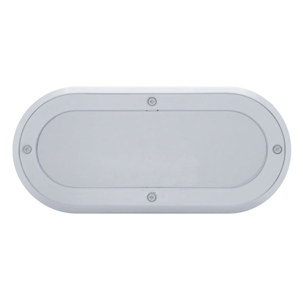 (CARD) CHROME PLASTIC OVAL MIRROR BEZEL