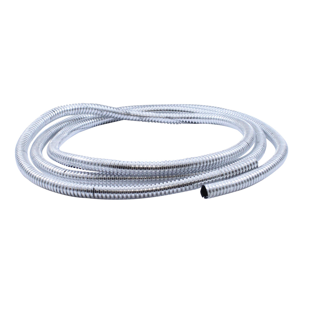 """(PACK) 72"""" CHROME PLASTIC WIRE LOOM - ¹ 1/4"""""""