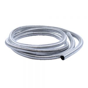"(PACK) 72"" CHROME PLASTIC WIRE LOOM - ¹ 3/8"""