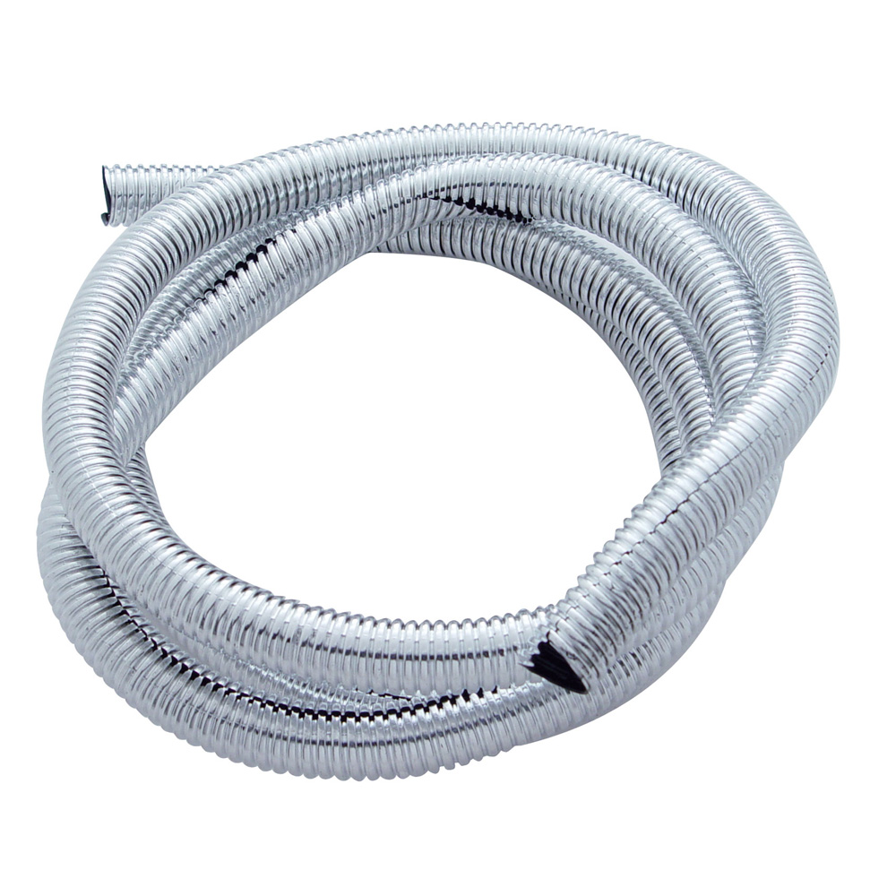"""(PACK) 72"""" CHROME PLASTIC WIRE LOOM - ¹ 1/2"""""""