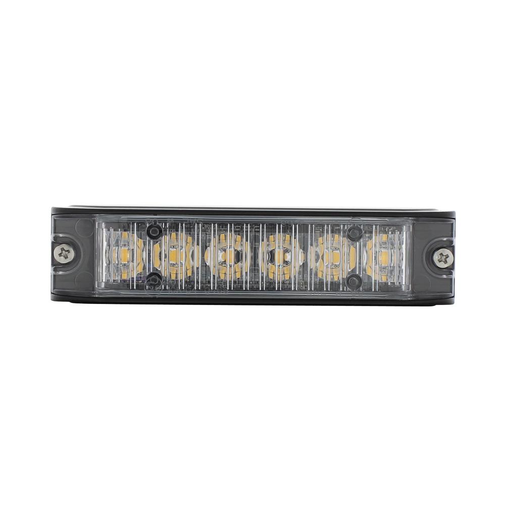(BOX) 6 HIGH POWER LED 12V/24V WARNING LIGHTHEAD - AMBER