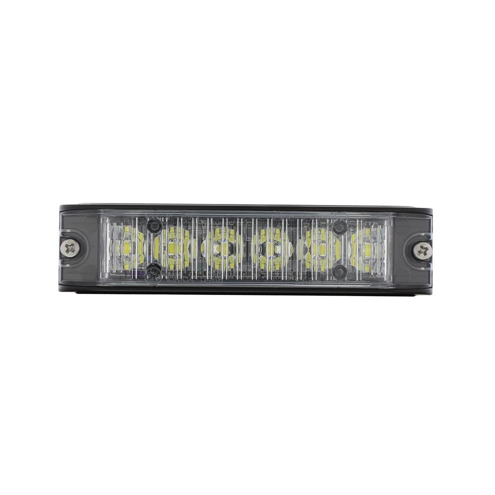 (BOX) 6 HIGH POWER LED 12V/24V WARNING LIGHTHEAD - WHITE