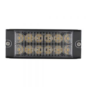 (BOX) 12 HIGH POWER LED 12V/24V WARNING LIGHTHEAD - AMBER