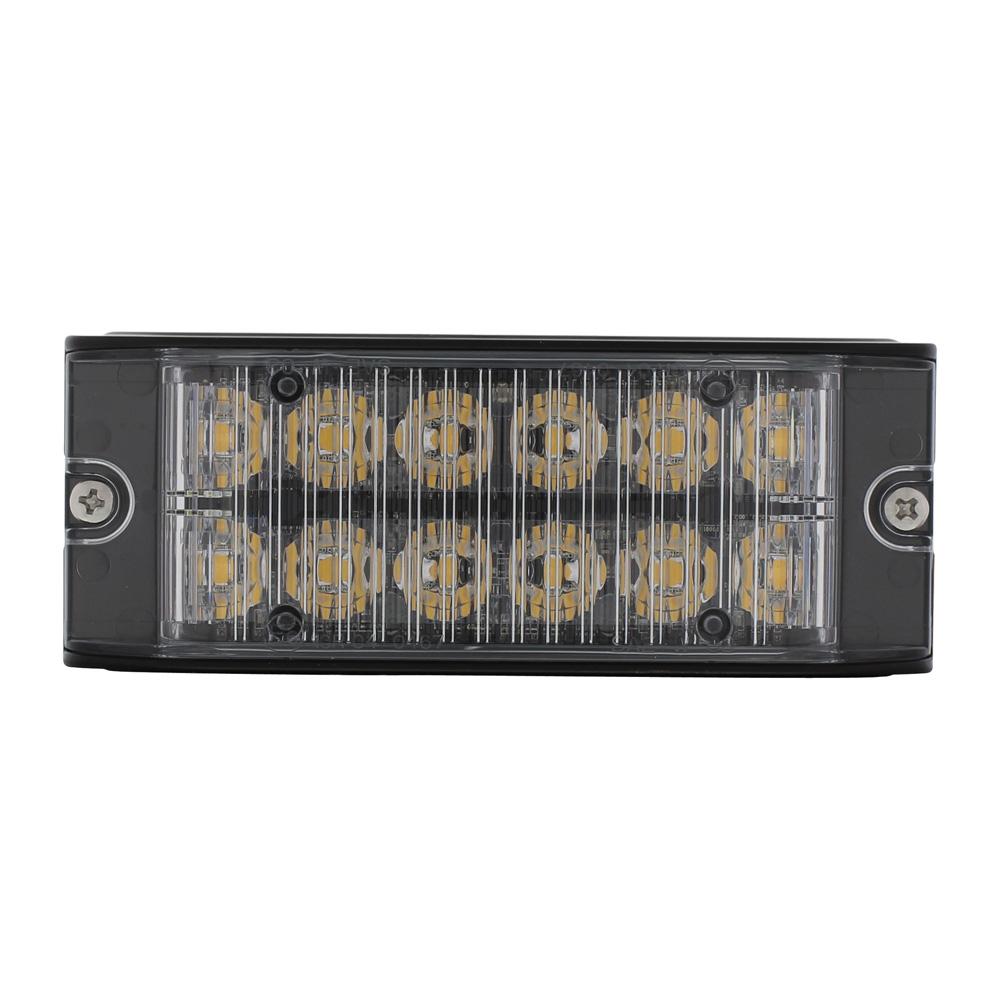 (BOX) 12 HIGH POWER LED 12V/24V WARNING LIGHTHEAD - AMBER