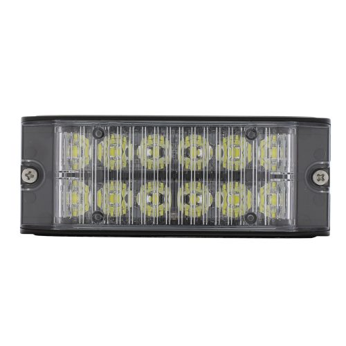 (BOX) 12 HIGH POWER LED 12V/24V WARNING LIGHTHEAD - WHITE