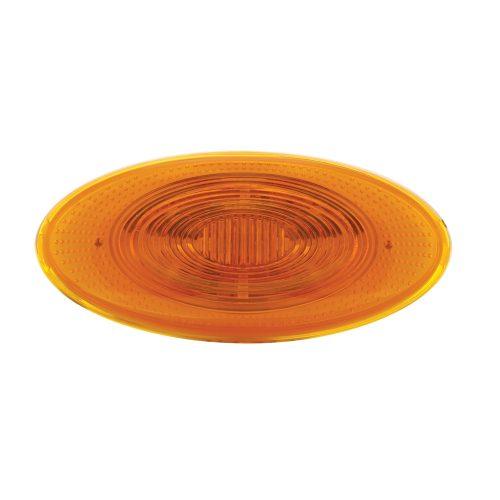 (CARD) 10 AMBER LED PETERBILT OVAL FRONT FENDER TURN SIGNAL LIGHT - AMBER LENS