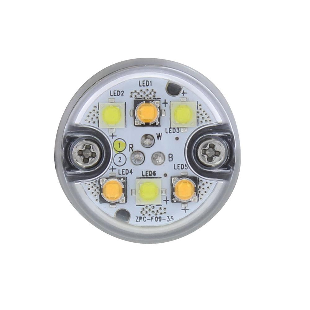 "(2/BOX) 6 LED 1"" WARNING LIGHT - SPLIT COLOR"