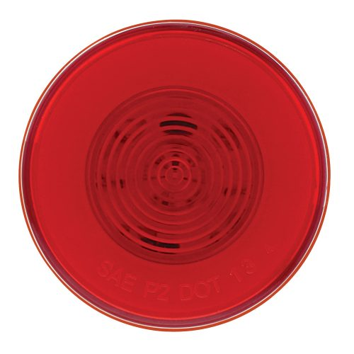 """(CARD) 9 RED LED 2 1/2"""" CLEARANCE/MARKER """"GLO"""" LIGHT - RED LENS"""