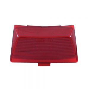 (CARD) 8 LED HARLEY FENDER TIP LIGHT - RED LENS