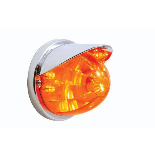 (BULK) 17 RED LED DUAL FUNCTION WATERMELON FLUSH MOUNT LIGHT KIT WITH VISOR - RED LENS