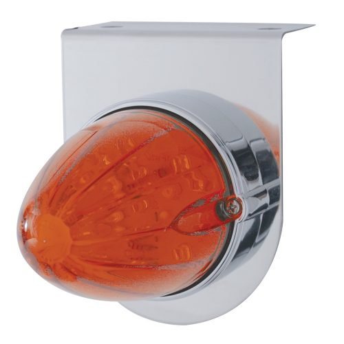 Amber LED//Dark Amber Lens 37309 17 LED Watermelon Single Face Light