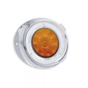 (CARD) 10 AMBER LED FREIGHTLINER DRIVER SIDE DRL CONVERSION KIT WITHOUT REFLECTOR WITH VISOR - AMBER LENS