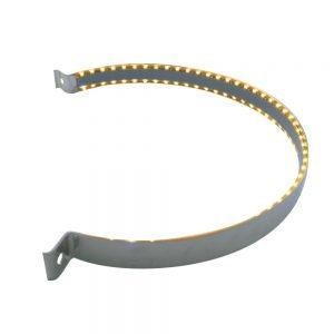 (BULK) 90 LED STAINLESS PETERBILT AIR CLEANER STRAP - AMBER