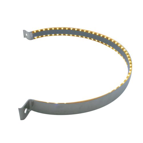 (BULK) 90 LED STAINLESS PETERBILT AIR CLEANER STRAP - AMBER