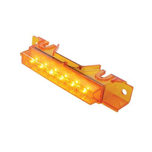 (CARD) 6 AMBER LED VOLVO VNL CAB LIGHT - AMBER LENS