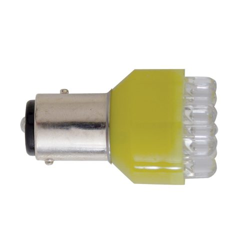 (CARD) 12 SUPER BRIGHT LED 1157 BULB - AMBER
