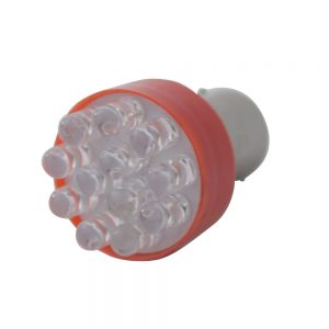 (CARD) 12 SUPER BRIGHT LED 1157 BULB - RED