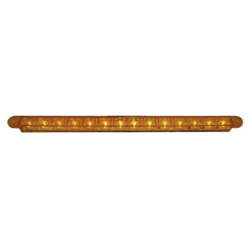 "(BULK) 14 AMBER LED 12"" SEQUENTIAL AUXILIARY/UTILITY LIGHT BAR - AMBER LENS"