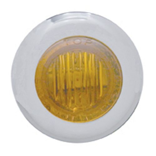 (CARD) 3 AMBER LED DUAL FUNCTION MINI AUXILIARY/UTILITY LIGHT W/ S.S. BEZEL - AMBER LENS