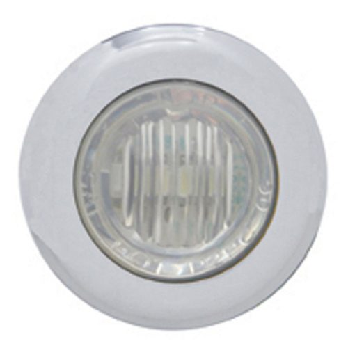 (CARD) 3 RED LED DUAL FUNCTION MINI AUXILIARY/UTILITY LIGHT W/ S.S. BEZEL - CLEAR LENS
