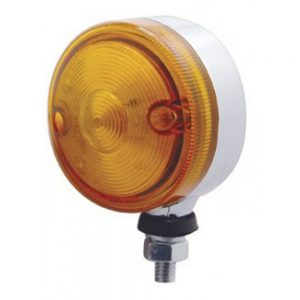 """(CARD) 15 AMBER LED 3"""" SINGLE FACE AUXILIARY LIGHT - AMBER LENS"""