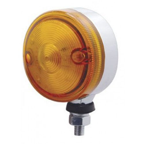 "(CARD) 15 AMBER LED 3"" SINGLE FACE AUXILIARY LIGHT - AMBER LENS"