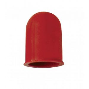 (6/CARD) SMALL BULB COVER - HOT RED