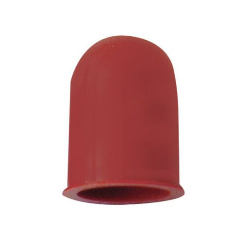 (6/CARD) SMALL BULB COVER - RED