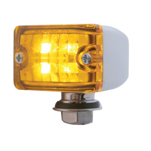 (CARD) 4 AMBER LED SMALL ROD LIGHT - AMBER LENS