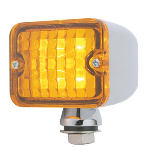 (CARD) 6 AMBER LED MEDIUM ROD LIGHT - AMBER LENS