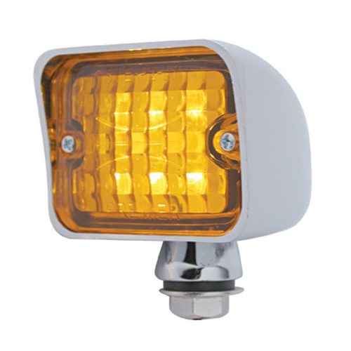 (CARD) 6 AMBER LED LARGE ROD LIGHT - AMBER LENS