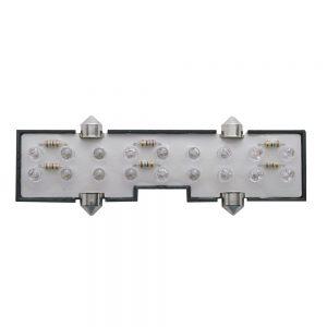 (CARD) 18 WHITE LED PETERBILT CENTER DOME LIGHT