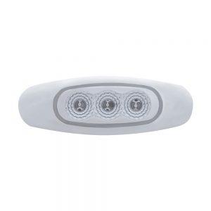 (BULK) 3 AMBER LED REFLECTOR MARKER LIGHT - CLEAR LENS