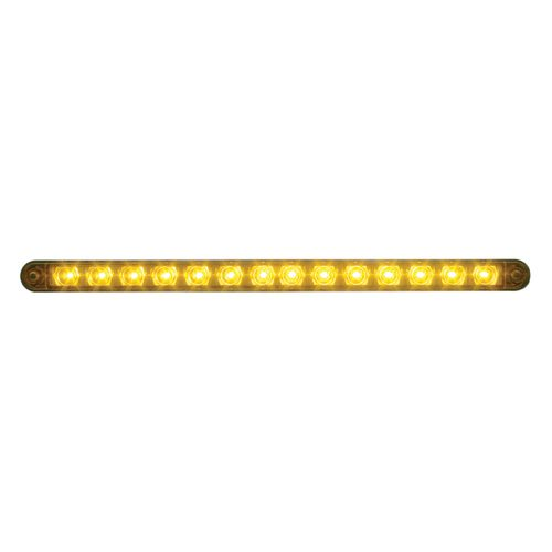 "(CARD) CHROME 14 AMBER LED 12"" P/T/C LIGHT BAR - AMBER LENS"