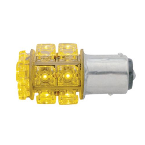 (CARD) 13 AMBER LED 360 DEGREE 1157 BULB - OFFSET PIN